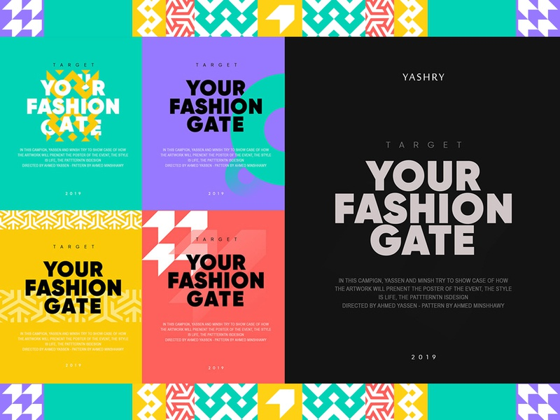 Yashry | New Branding black friday vector typography design illustrator identity pattern geometric logo branding
