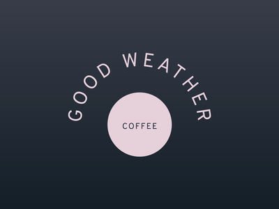Logo Design for Good Weather Coffee branding concept logo