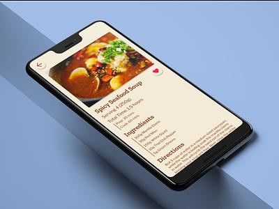 04 Recipe Page visual design ui design application recipe app recipe