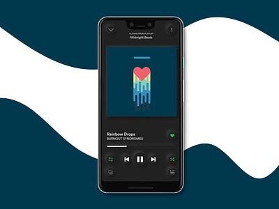 05 Spotify Neumorphism redesign visual design mobile app music player neumorphism neumorphic music spotify application app ui design