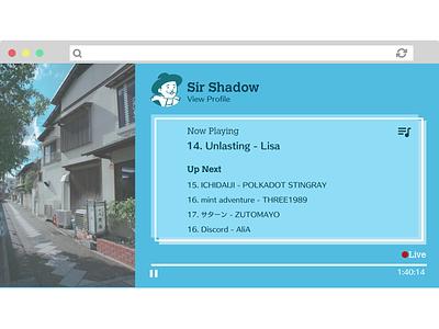 06 Music Streaming App visual design ui design live streaming music streaming music player music app
