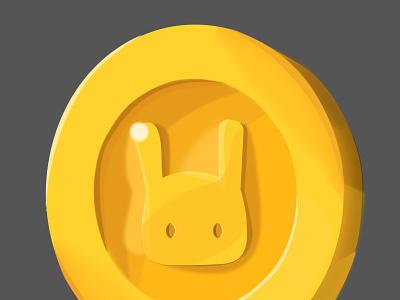 Bunny Coin illustration design cute rabbit bunny coin game asset game