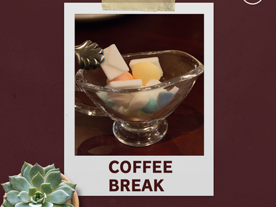 Coffee Break IG Image   Big event branding promotional design social media visual design photography branding design