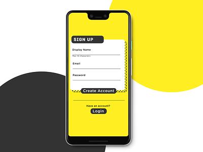 01 - Sign Up Screen app ui design