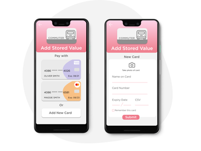 02 Credit Card Form payment credit card bus ui app design