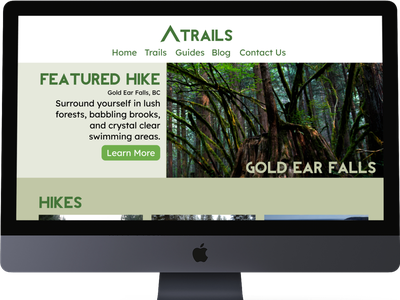 03  Landing Page landing page website design photography hiking typography ui design