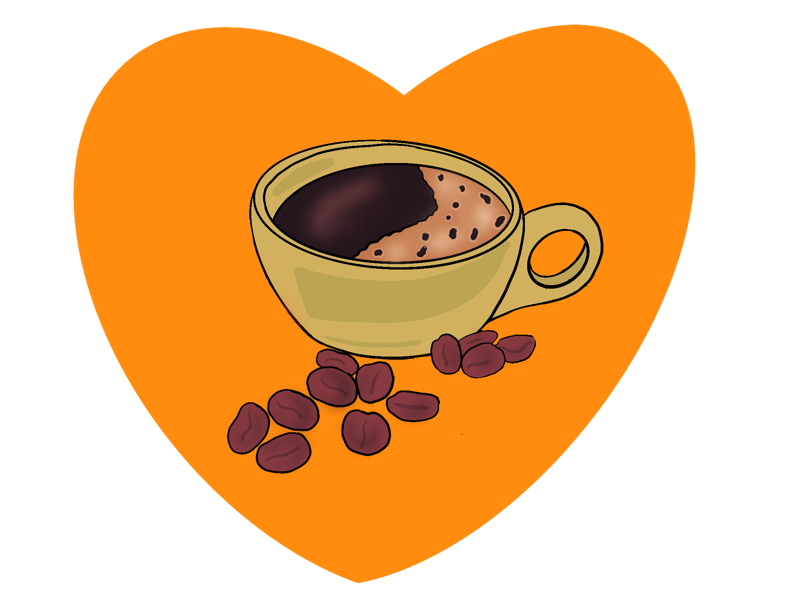 For The Love of Coffee procreate illustrator illustration coffee
