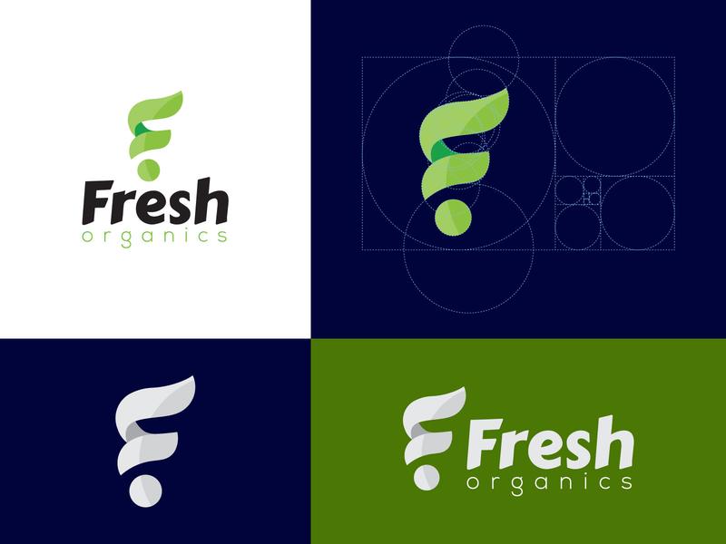 fresh branding lettering fresh organic logodesign