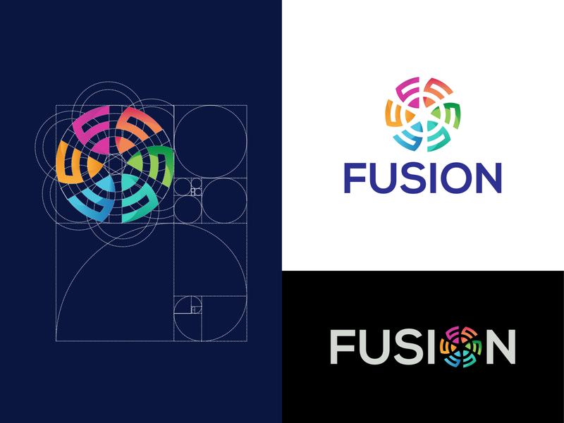 fushion logo design branding logomnark logo