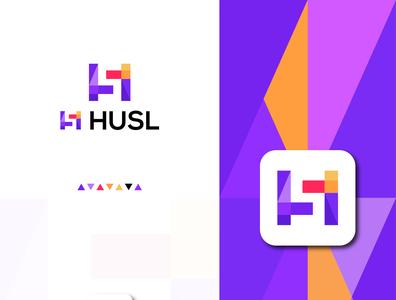 husl app logo branding logodesign