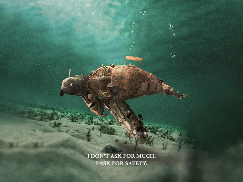 I don't ask for much, I ask for safety. dribbble nature sea plastic awareness campaign awareness animal rights animals social media design media direction design campaign art branding manipulation arab egypt social media