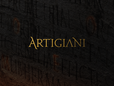 Artigiani sharp authentic romanian roman social media branding logo italian italy