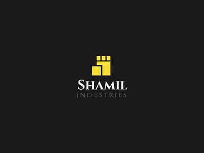 Shamil Industries wall paper carton industries letter visual identity branding logo arabic