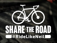 Ride Like Neil Sticker Concept