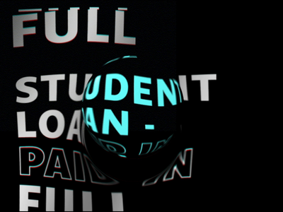 student loan - paid in full debt free typography animation student loans