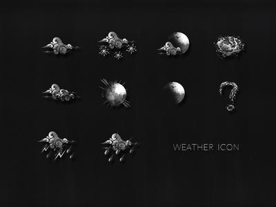 Black-White Weather Icon