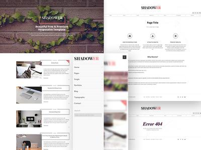 Shadower - HTML5 Responsive Blog Template