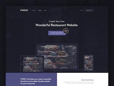 FORQY restaurant website website cafe restaurant hospitality