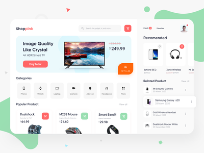 Shoppink - Online Store Exploration sell orange buy shope soft clean green ipad startup ui ui design pattern shaddow card gadgets shopping app shopping online store online shop dashboard