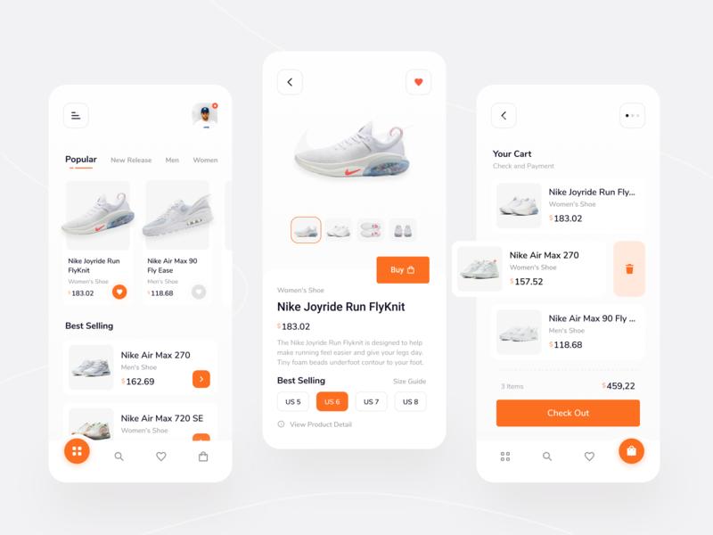 Shoe Store Mobile App Eploration