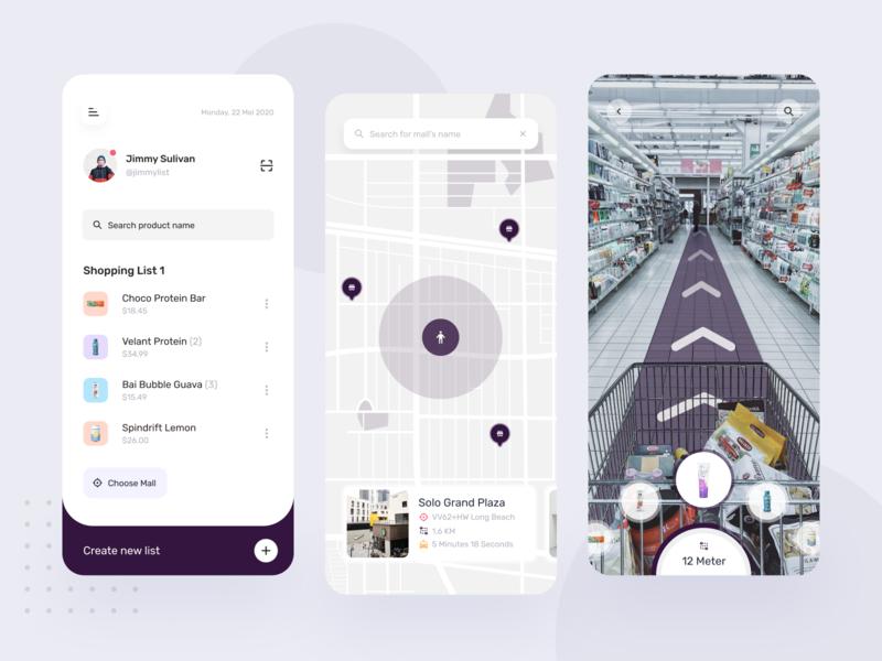 Shoppezy Mobile App Exploration list shopping list map card vr ux mobile ui startup app design online shop store app buy store mall easy shope shopping mobile app app