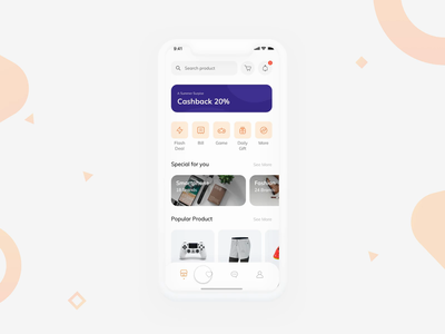 E-Commerce UI Exploration with ProtoPie prototype mobile app mobile ui marketplace store detail chart complete success orange ui kit mobile product design clean ecommerce app e-commerce app e-commerce ecommerce ui protopie
