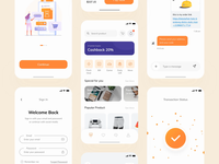 Tokoto E-Commerce | Continue clean ui help center complete message chat cartoons shopping app ui design trend startup shop e-shop clen orange marketplace store ecommerce animation mobile e-commerce