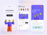 Social Media Mobile Exploration figma clean startup blurry blue uidesign mobile social network library book socialmedia 3d glasses social study learn story read medium social media