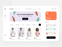 Dropship Dashboard Exploration banner tshirts shirt dashboard ui soft bootstrap app card clean uiux dropship dropshipping shopping app uidesign hipe fashion store startup website dashboad
