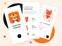 Toys Store Mobile App Prototype ui design ios app collections orange mobile app design ios app toystore toy toys clean prototype animation prototyping prototype animation card mobile design mobile ui mobile app mobile