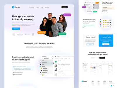 Teambo - Landing Page Exploration saas website web startups bootstrap landing pages team preview layout website concept landing page concept saas landing design landing page ui startup website design web design websites website landing page design landing page
