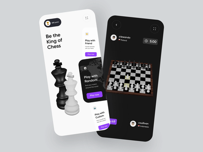 Chess Mobile App Exploration flutter android ios 3d games dark mode principle prototype animations animation mobile app design mobile ui chess game game versus chess app chessboard chess mobile app mobile