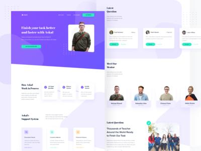 Askal Education Landing Page