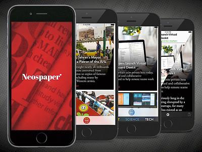 Neospaper App Screenshots app product design brand