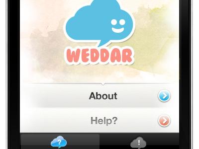 Weddar iPhone App Shot1  iphone app design ui interface watercolor blue pink icon