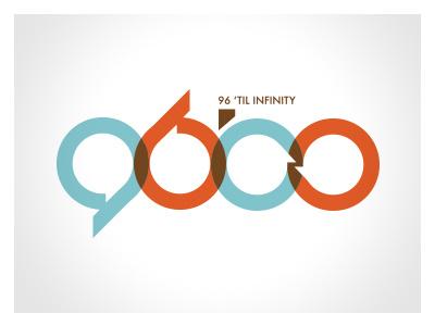96 'til Infinity  logo design branding identity