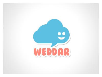 Weddar brand identity logo design mobile