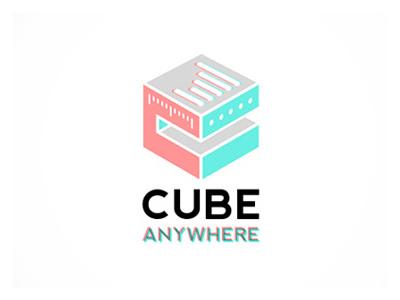 Cube Anywhere brand identity logo design mobile web app