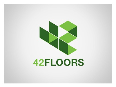 4 2 F l o o r s design logo identity mobile brand