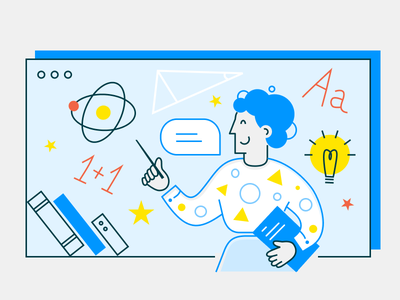 Teacher and distant lesson remote learning online education covid19 coronavirus pandemic pandemia distance learning online exam online education online remote work remote teacher ui ui illustration web illustration flat flat design vector flatillustration illustration flat illustration