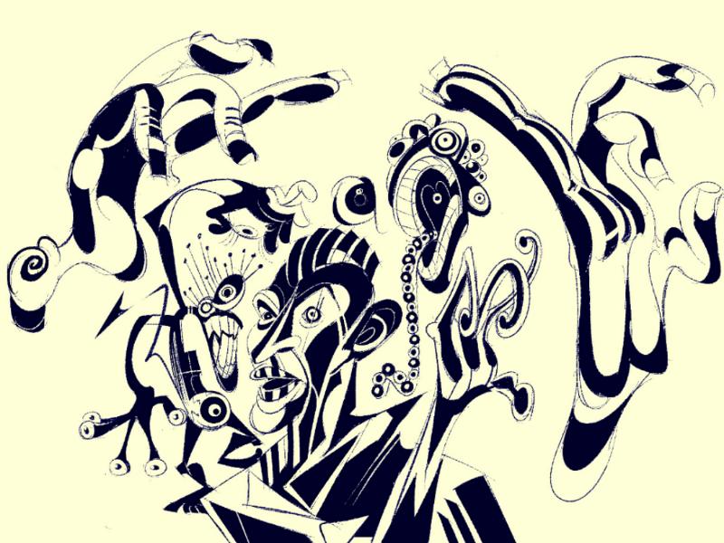 oingo my boingos illustration cartoonist surrealism