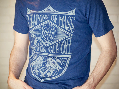 Weapons of Mass Creation Pt. 2 type typography apparel label banner lettering vintage handmade custom ornamentation wmc waepons creation cleveland