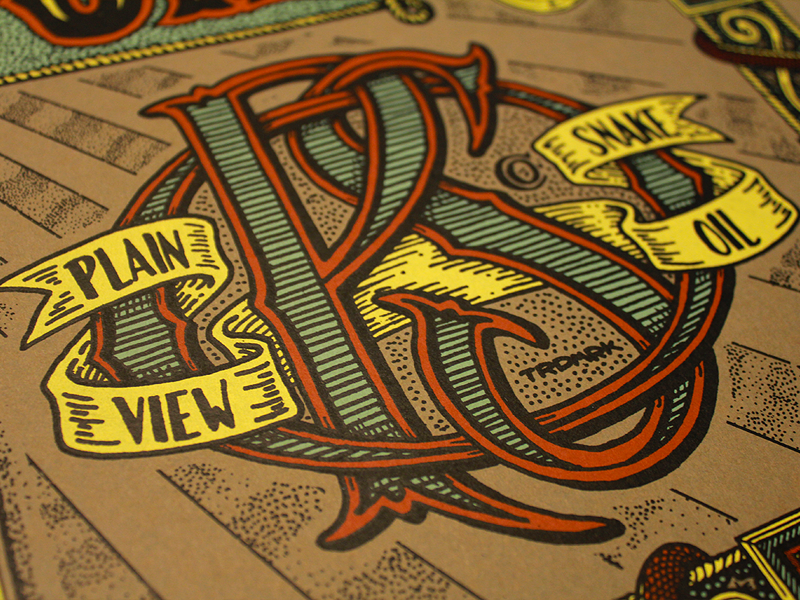 PSO Monogram - Final type typography apparel label banner lettering vintage handmade custom ornamentation flourish victorian script