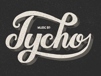 Music By: Tycho type typography lettering vintage handmade custom script holstee