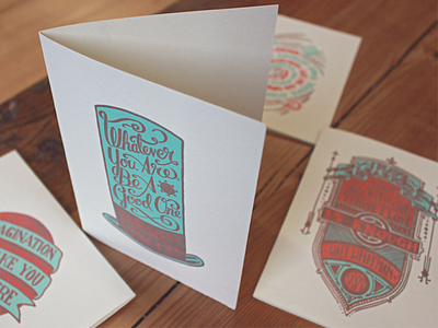 Holstee Cards type typography lettering vintage handmade custom letterpress quotes cards