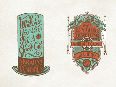 Holstee - Lincoln & Whitman Finals type typography script lettering vintage handmade custom letterpress stationery cards