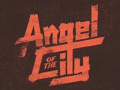 Angel of the City type typography lettering vintage handmade custom film title