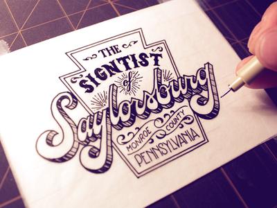 The Signtist of Saylorsburg - Inks
