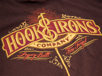 Hook & Irons Co. - Legacy Built - Printed