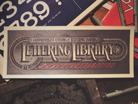 Lettering Library - Print Sample
